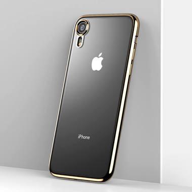 Чехол для iPhone XR Electroplating - золотой, фото №2
