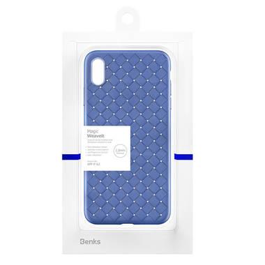 Benks чехол для iPhone XS Max серия Weaveit - синий, фото №2