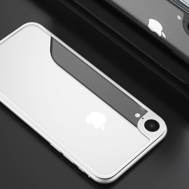 Защитное стекло на заднюю панель iPhone Xr - Silver, фото №2