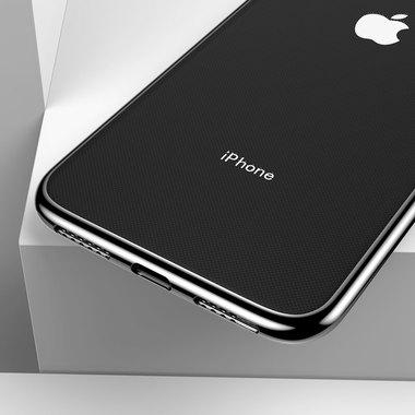 Чехол для iPhone XS Max Electroplating - черный, фото №2