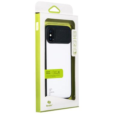 Benks чехол для iPhone X - черный с подставкой Mochi, фото №2
