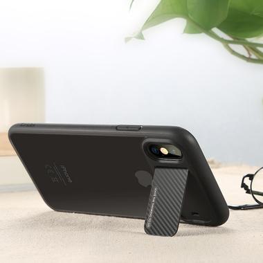 Benks чехол для iPhone X - черный с подставкой Mochi, фото №3