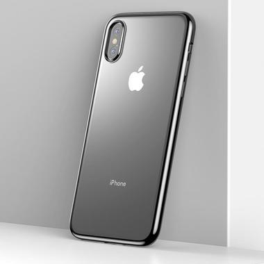 Чехол для iPhone XS Max Electroplating - черный, фото №1