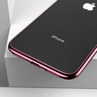 Чехол для iPhone XR Electroplating - розовое золото, фото №3