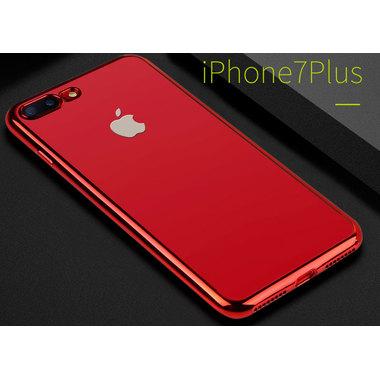 Чехол для iPhone 7 Plus Electroplating Красный, фото №2