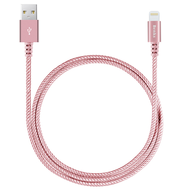 Кабель Lightning MFI Sturdy - Розовый, фото №2