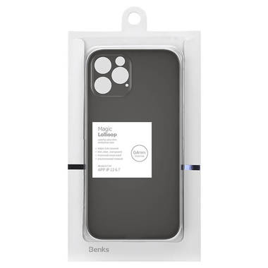 Чехол для iPhone 12 Pro Max 0,4 mm LolliPop черный, фото №7
