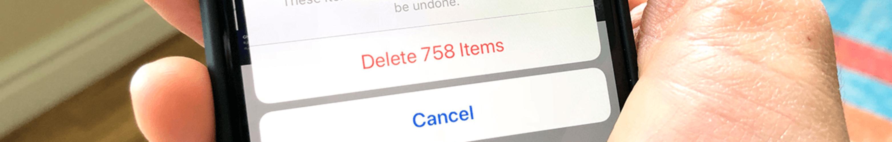 Как массово удалить фото на iPhone?