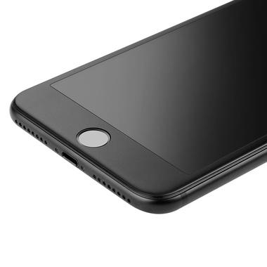 Матовое стекло на iPhone 7Plus/8Plus - черная рамка KR Pro 3D, фото №1