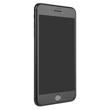 Матовое стекло на iPhone 7Plus/8Plus - черная рамка KR Pro 3D, фото №4