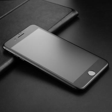 Матовое стекло на iPhone 7Plus/8Plus - черная рамка KR Pro 3D, фото №8