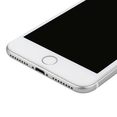 Приватное затемняющее стекло на iPhone 7Plus/8Plus - белая рамка KR Pro 3D, фото №4