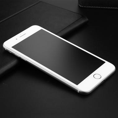 Приватное затемняющее стекло на iPhone 7Plus/8Plus - белая рамка KR Pro 3D, фото №6
