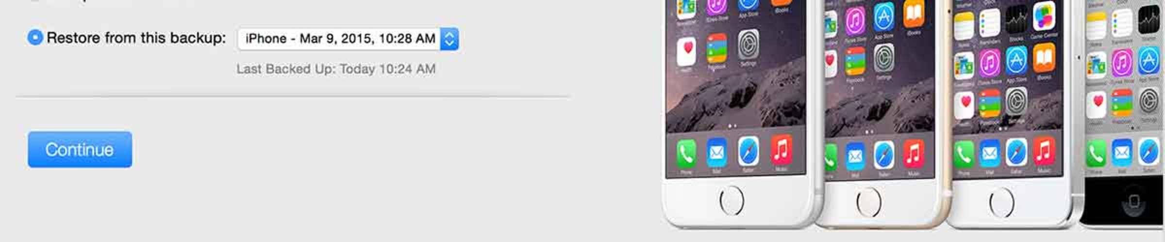Инструкция по восстановлению айфона или айпада из резервной копии