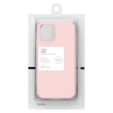 Силиконовый чехол для iPhone 11 Pro Magic Silki - розовый, фото №4
