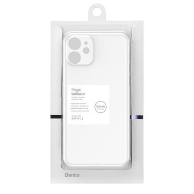 LolliPop чехол для iPhone 11  0,4 mm - белый полупрозрачный, фото №11
