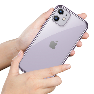 Чехол для iPhone 11 Magic Glitz фиолетовый 1,2 мм, фото №1