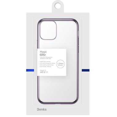 Чехол для iPhone 11 Magic Glitz фиолетовый 1,2 мм, фото №5