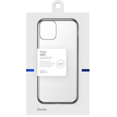 Чехол для iPhone 11 Magic Glitz серебряный 1,2 мм, фото №1