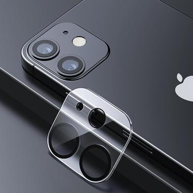 Защитное стекло на камеру для iPhone 12 с черным кантом - 1шт., фото №4