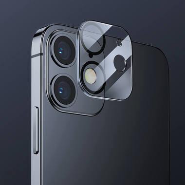 Защитное стекло на камеру для iPhone 12 с черным кантом - 1шт., фото №5