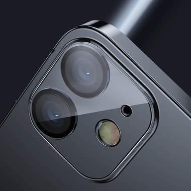 Защитное стекло на камеру для iPhone 12 с черным кантом - 1шт., фото №6