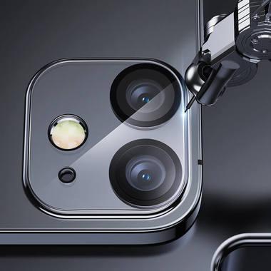 Защитное стекло на камеру для iPhone 12 с черным кантом - 1шт., фото №7