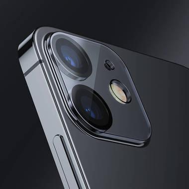 Защитное стекло на камеру для iPhone 12 с черным кантом - 1шт., фото №8