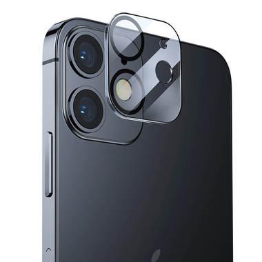 Защитное стекло на камеру для iPhone 12 с черным кантом - 1шт., фото №1