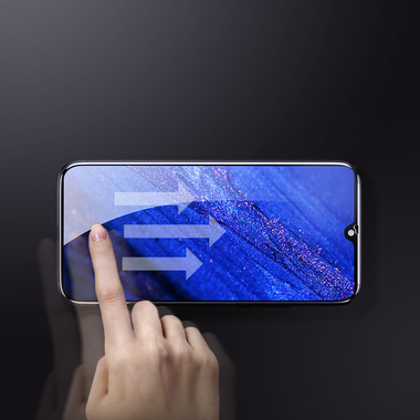 Защитное стекло для Huawei Mate 20, Vpro 0,3 мм - черная рамка, фото №11