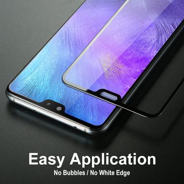 Защитное стекло для Huawei P20 Pro, Vpro 0,3 мм - черная рамка, фото №4