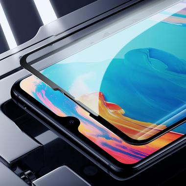 Защитное стекло для Huawei P30, Vpro 0,3 мм - черная рамка, фото №11