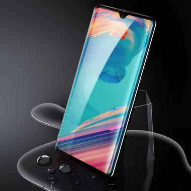 Защитное стекло для Huawei P30, Vpro 0,3 мм - черная рамка, фото №12
