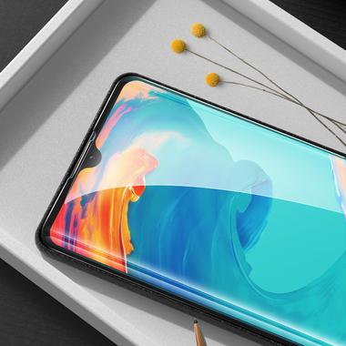 Защитное стекло для Huawei P30, Vpro 0,3 мм - черная рамка, фото №14