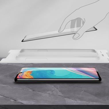 Защитное стекло для Huawei P30, Vpro 0,3 мм - черная рамка, фото №15