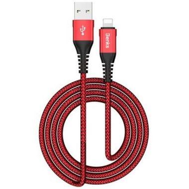 Lightning USB кабель красный, 120 см - Chidian, фото №1