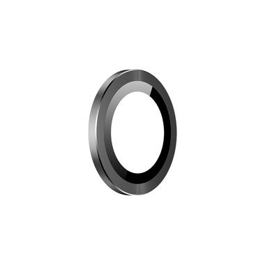 Защитное стекло на камеру iPhone 11, черная мет. рамка KR - 1шт., фото №6