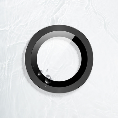 Защитное стекло на камеру iPhone 11, черная мет. рамка KR - 1шт., фото №7
