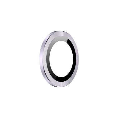 Защитное стекло на камеру iPhone 11, фиолетовая мет. рамка KR - 1шт., фото №1