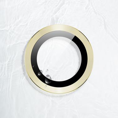 Защитное стекло на камеру iPhone 11, желтая мет. рамка KR - 1шт., фото №7