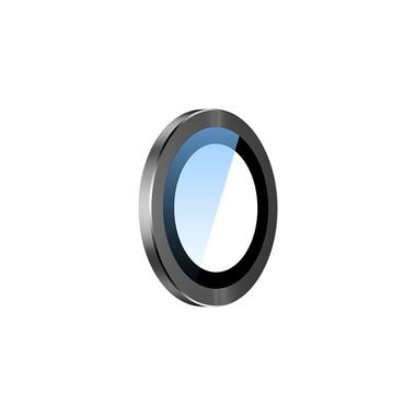 Сапфировое защитное стекло на камеру iPhone 11, черная мет. рамка DR - 1шт., фото №4