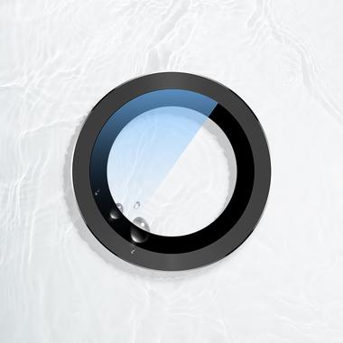Сапфировое защитное стекло на камеру iPhone 11, черная мет. рамка DR - 1шт., фото №5
