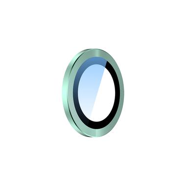 Сапфировое защитное стекло на камеру iPhone 11, зеленая мет. рамка DR - 1шт., фото №4