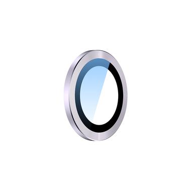 Сапфировое защитное стекло на камеру iPhone 11, фиолетовая мет. рамка DR - 1шт., фото №1