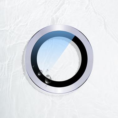 Сапфировое защитное стекло на камеру iPhone 11, фиолетовая мет. рамка DR - 1шт., фото №10