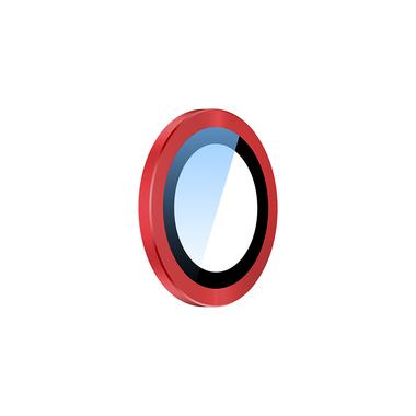 Сапфировое защитное стекло на камеру iPhone 11, красная мет. рамка DR - 1шт., фото №4