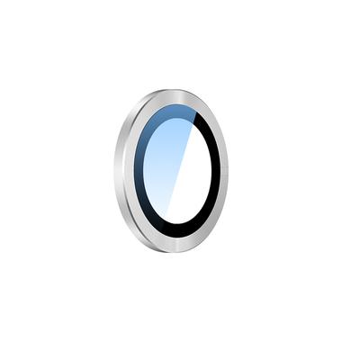 Сапфировое защитное стекло на камеру iPhone 11, белая мет. рамка DR - 1шт., фото №4