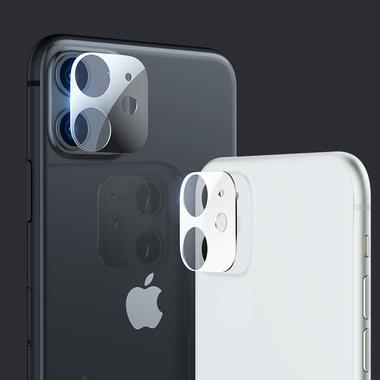 Защитная пленка на камеру iPhone 11, черная рамка KR - 2шт., фото №4
