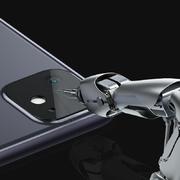 Защитная пленка на камеру iPhone 11, черная рамка KR - 2шт.