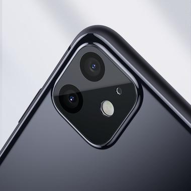 Защитная пленка на камеру iPhone 11, черная рамка KR - 2шт., фото №7